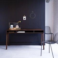 Schreibtisch aus Nussholz 150 Stubenrauch