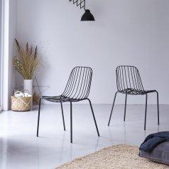Sedia in metallo  Arty dark grey