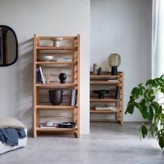 Sera teak bookcase 80x180