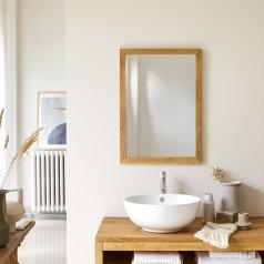 Serena Oak Mirror 70x50