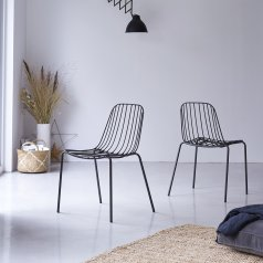 Silla en metal Arty dark grey