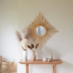 Specchio in Rattan 80 Isidore naturale