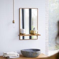 Specchio in Teak Galyno 75x45