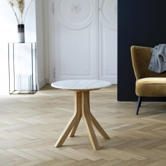 Stonecrumb Oak and Marble Coffee Table 60