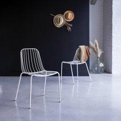 Stuhl aus Metall Arty weiß