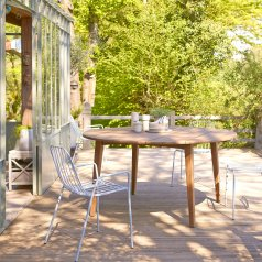 Table de jardin en teck 150 Grasshopper