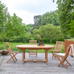 Table de jardin ovale en teck 180 Capri