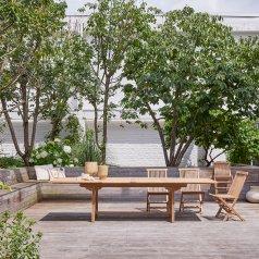 Table de jardin rectangulaire en teck 200 Capri