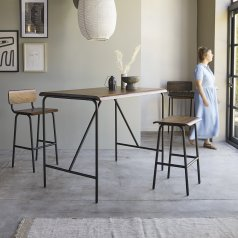 Talia Metal and Rosewood Bar Table 140x85