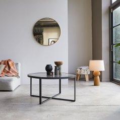 Tavolino in marmo e metallo 90 Milan