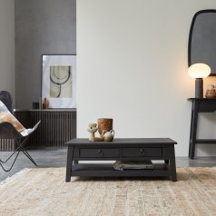 Thaki Black Mahogany Coffee Table 100x60