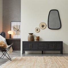 Thaki Black TV Stand in Solid Mahogany 170
