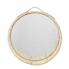 The Rufin 40 rattan mirror
