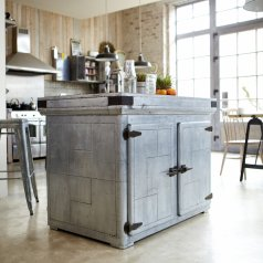 Toby Zinc Kitchen Island