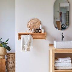Ugo Teak Towel Hanger 60