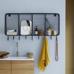 Wandregal für Badezimmer aus Metall 100 Stella