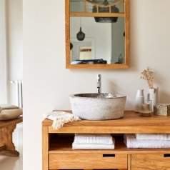 Waschbecken aus Marmor Exo Stri Grey
