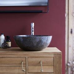 Waschbecken aus Marmor Ibyza Grey