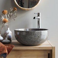 Waschbecken aus Marmor Mia Grey Light
