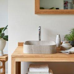 Waschbecken aus Marmor Perseus grau