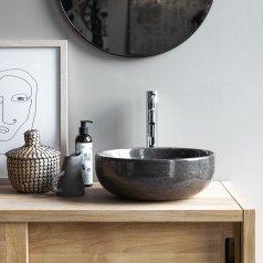Waschbecken aus Marmor Pia Dark Grey
