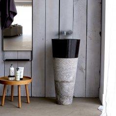 Waschbecken mit Marmorfuß Koni