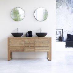 Waschbeckenunterschrank aus Teak 145 Minimalys