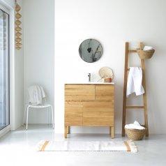 Waschtisch aus Eiche mit Keramikwaschbecken 80 Easy