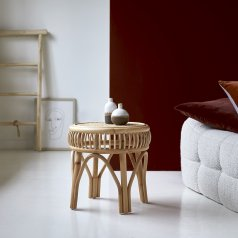 Zita rattan side table 40