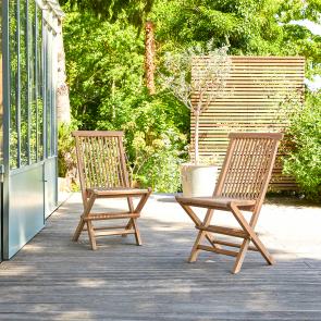 2 Sedie da giardino in set in Teak Capri