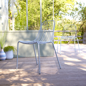 Arty Metal Outdoor Chair Bleu Grey