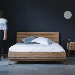 Bett aus recyceltem Holz 160x200 Brooklyn