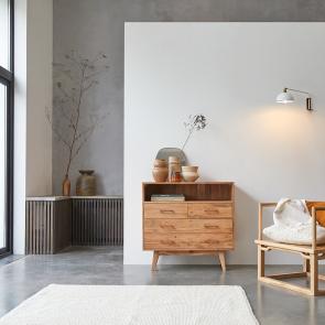 Commode en acacia 4 tiroirs Oslo