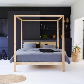 Doppelbett aus Mangoholz 160x200 Rafael