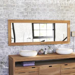 Espejo de teca Tona no tratada 160x60