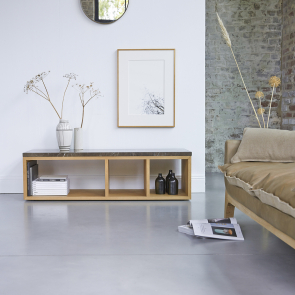 Eyota Oak and Marble TV Stand 131