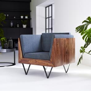Fauteuil Bois Teck - Vente Chaise En Bois Design - Tikamoon