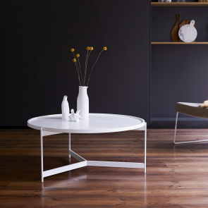 Happy White Metal Coffee Table