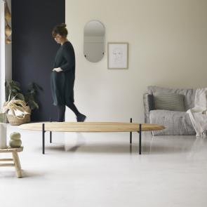 Honorine 160x80 teak coffee table