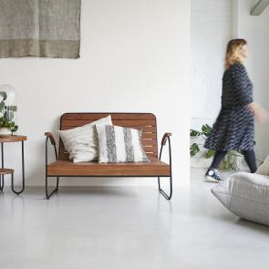 Key Wood Double Armchair