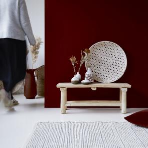 Kilim decorative teak bench 80