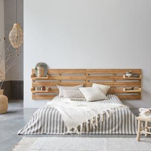 Kopfteil für Bett aus Teak 270 Urbain