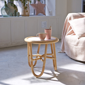 Léontie Rattan Bedside Table