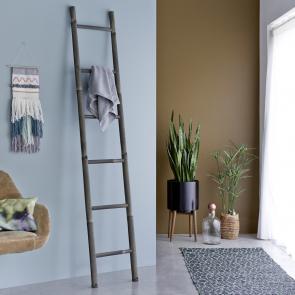 Leiter aus Bambus schwarz 200