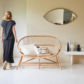 Leontie Rattan Double Armchair