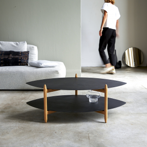 Lisa teak and metal coffee table 110x70