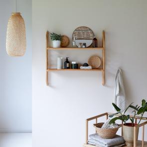 Marius Rattan Bathroom Wall Shelf