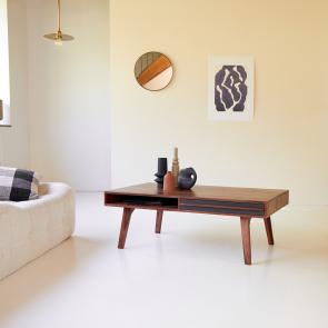 Mesa baja en palisandro 115x60 Niels