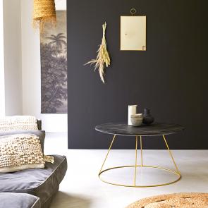 Mesa de centro en madera de mango 80 Liv