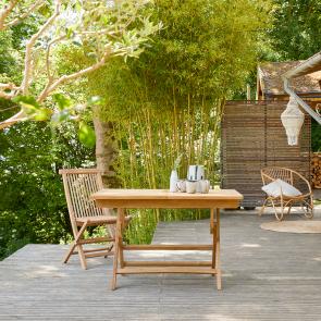 Mesa de jardín plegable en teca 120 Capri